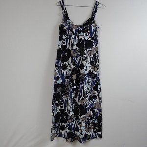 F214 Ann Taylor Petites Blue Floral Dress